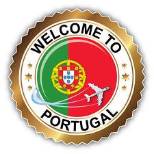 Portugal Travel Welcome Label Car Bumper Sticker Decal 5'' x 5''