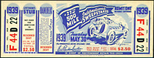 1 1939 INDIANAPOLIS INDY 500 AUTO RACING VINTAGE UNUSED FULL TICKET  laminated