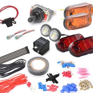 Toggle Switch Universal Turn Signal Street Legal Led Light Kit for SXS ATV UTV