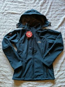 Women's NORTH FACE Summit Series Wind Stopper Hooded Soft Shell Jacket L Teal
