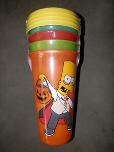 The Simpsons 4-Pack Glow in the Dark 24 oz. Tumblers With Straws Zak