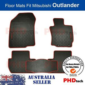 MITSUBISHI Outlander 2012-Current Tailored All Weather Rubber Car Floor Mats Red