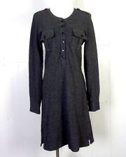 euc J.Crew ladies Gray Military Style Shirtdress Sweater Dress LS cuffs sz S