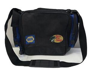 BASS PRO SHOPS NAPA BLACK BLUE SATCHEL BAG