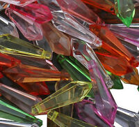 100 Kunststoffperlen Luxus Acrylperlen Plastik Tropfen 22mm Bunt BEST D297