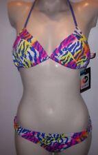 NEW Roxy string bikini swimsuit reversible 2pc set Large top medium bottom
