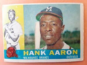 1960 Topps Baseball Set Break: #300 Hank Aaron