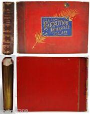 RARE ALBUM EXPOSITION UNIVERSELLE 1889 relié cuir 24 photos NEURDEIN