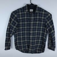 Field & Stream Long Sleeve Flannel Plaid Button-Up Shirt Mens Size Large