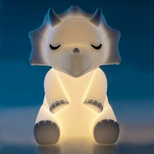 ~❤️~TRICERATOPS DINOSAUR NIGHT LIGHT Rechargeable USB Soft/Cool touch LED~❤️~