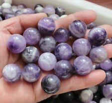 50 Pieces Natural Chevron Amethyst Quartz Crystal Spheres Balls Healing Urugua