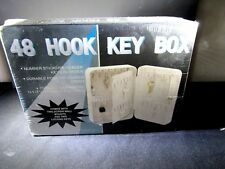 Key Organizer Box Metal Safe w/Tag Wall Mount Home Lock Storage for 48 Keys
