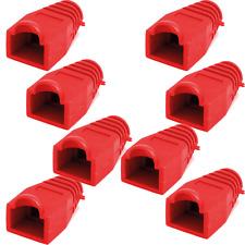 8 Manchons Souples Pour Fiches RJ45 Couleur Rouge Qualité Plastique