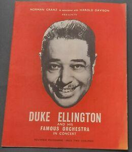1958 Duke Ellington and Orchestra Great Britain Concert Tour Souvenir Programme