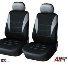 1+1 GREY-BLACK FABRIC FRONT SEAT COVERS FOR SUZUKI VITARA JIMNY SWIFT ALTO IGNIS
