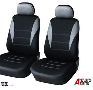 For Car Van Motorhome Bus Mpv Truck 1+1 Universal Grey-Black Front Seat Covers N