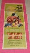 original TORTURE GARDEN insert poster Jack Palance Burgess Meredith Cushing