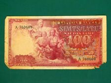 More details for latvia 1939, 100 latu collectable banknote.