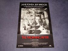 MORNING AFTER movie poster JANE FONDA Jeff Bridges 1986