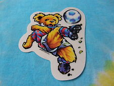 Grateful Dead Dancing Bear Playing Soccer Window Sticker