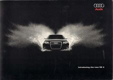 Audi RS4 Saloon Specification 2005-06 UK Market Brochure A4