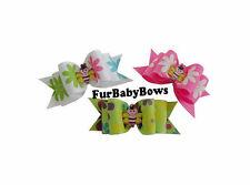 5 Cute Bee Flower Yorkie Puppy dog grooming Pet Bows Shih-tzu Maltese topknot