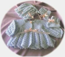 CROCHET PATTERN for 3 PC RIPPLE Baby Sweater Set  by REBECCA LEIGH  6/12 MONTHS