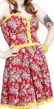 77973 Red Rosey Luau Floral Hawaiian Dress Sourpuss Retro Pinup Punk X-Large XL