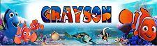 Finding Nemo Peronalized Custom Name Poster Banner 8.5x30 - Birthday Gift