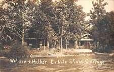 Angola Indiana Cobble Stone Cottage Real Photo Antique Postcard K62716