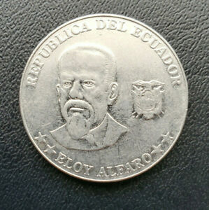 Ecuador 50 centavos, 2000, Stainless Steel coin, KM# 108, Eloy Alfaro