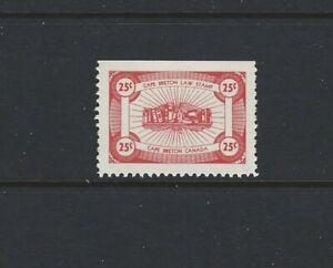 Canada 1955 Cap Breton Law Stamp #NSC16 red 25c MNH VF