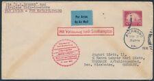 Katapultflug Dampfer Bremen 17.5.1931 USA Post nach Schlangenbad (S18521)