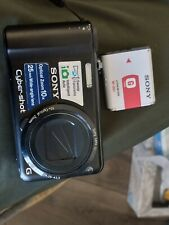 Sony Cyber-shot DSC-H55 14.1MP Digital Camera - Black with BATTERY- NO CHARGER
