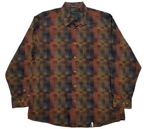 Jhane Barnes Mens XL Long Sleeve Button Up Multicolor Shirt EUC