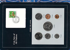 Coin Sets of All Nations Cook Islands 1983 UNC $1, 50,20,10,5,2,1 cents