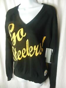 Pittsburgh Steelers NFL Women's Pullover V Neck Sweater by Touch Medium