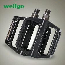 "Wellgo B087 Alloy Mountain BMX Pedal with Reflector 9/16"" Black"