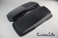 Saddlebag Single 6x9 Speaker Lids - Harley Bagger HD H-D - replace stock lids