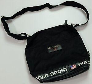 Rare VTG POLO SPORT Ralph Lauren Spell Out USA Flag Crossbody Shoulder Bag 90s
