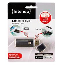 Pendrive 64GB Usb3.0 intenso Imobile Line negro