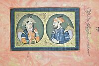 Abari Mughal Portrait Painting Shah Jaha Mumtaz Miniature Handmade India Art