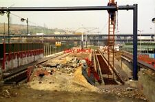 PHOTO  1993 SHEFFIELD BUILDING THE TRAM PLATFORMS AT MEADOWHALL TRACK HAS BEEN L
