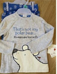 F&F Clothing Usborne That's Not My Polar Bear Baby Pyjamas 9-12 months