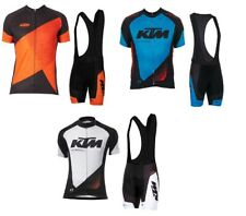 KTM Team Men Cycling Jersey Bike Short Sleeve Shirts Bib Shorts Set Summer