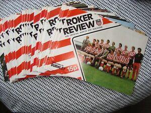 Full season of Sunderland home programmes 1977-78 season - 23 in all