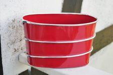 Pflanzschale Metall, rot 24 x 14 cm oval, Blumenschale, Pflanzenschale, 216072