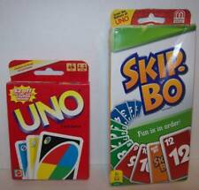 Mattel Uno & Skip-Bo Family Card Games 2-6 Players NEW