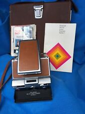 Vintage Polaroid SX-70 Land Camera Alpha 1 + Flash+Leather Cases+ Instruction .