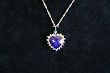 Titanic Heart of the Ocean Sapphire Crystal Necklace Pendant